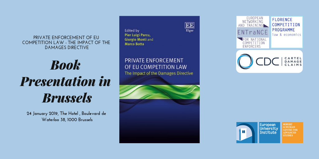 Book Presentation: Private Enforcement of the EU Competiton Law, January 24 in Brussels @ The Hotel