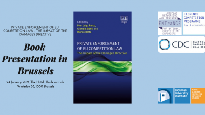 Permalink to:Book Presentation: Private Enforcement of EU Competition Law, January 24 in Brussels