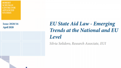 Permalink to:Policy Brief: EU State Aid Law – Emerging Trends at the National and EU Level